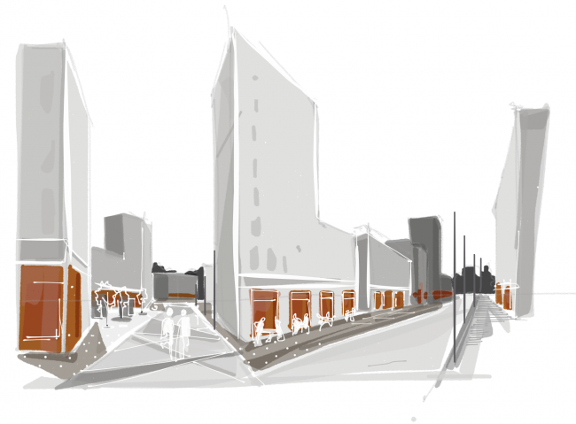 Mind the gap / Внимание, пустота!. Новые открытые пространства. Проект, выполненный в рамках воркшопа «Лаборатория преобразований. Шаболовка: модель для жизни» (AAVS + МАРШ) © AAVS