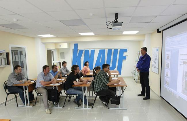 в учебном классе лаборатории КНАУФ в НИУ МГСУ. Фотография предоставлена компанией КНАУФ