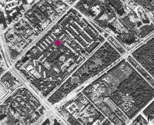 Концепция застройки участка в Москве. Ситуационный план. Проект, 2016 © Архитектурная мастерская Сергея Эстрина