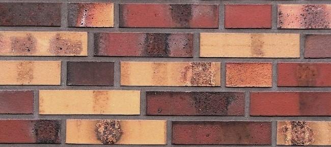 Клинкерный кирпич Hagemeister красно-желтой сортировки Hannover. Фотография предоставлена компанией «Кирилл»