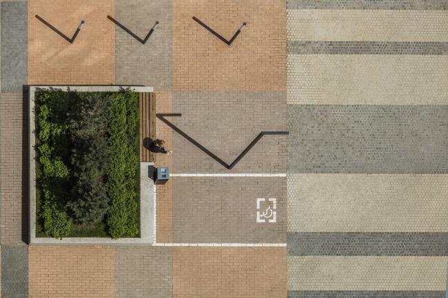 Проект благоустройства территории ЖК «Водный». Проект, 2016 © T+T Architects
