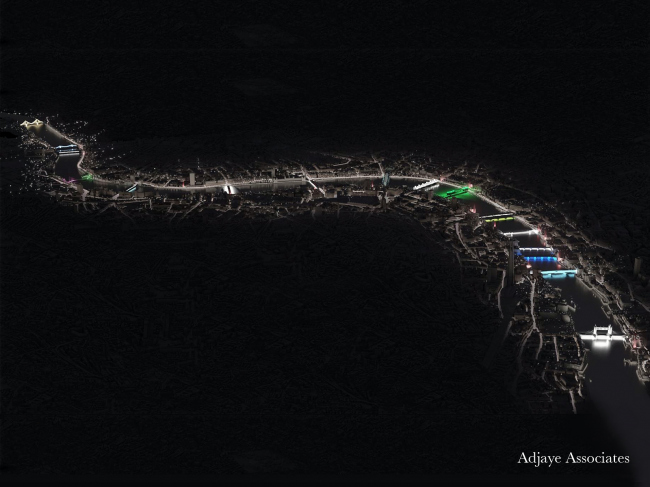 Концепция освещения Темзы © MRC, Adjaye Associates