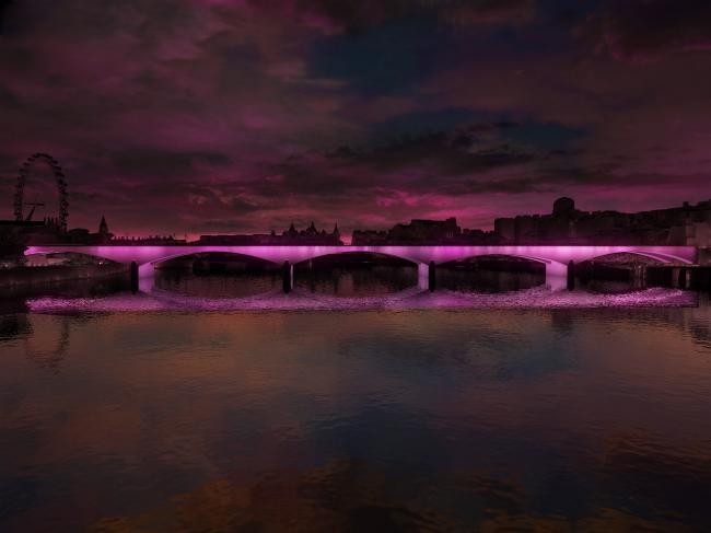Концепция освещения Темзы © MRC, Leo Villareal, Lifschutz Davidson Sandilands