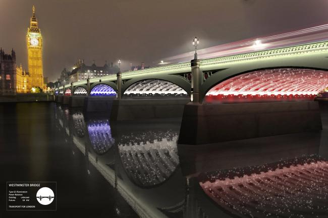 Концепция освещения Темзы © MRC, Les Éclairagistes Associés