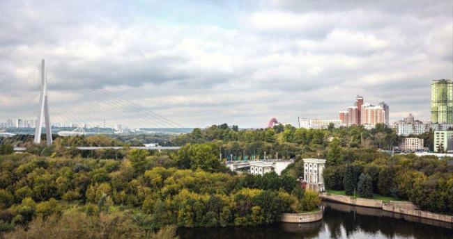 Вантовый мост через Москву-реку. Проект, 2016 © ОАО «Институт Гипростроймост»