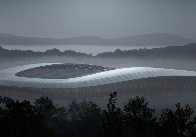 Футбольный стадион Forest Green Rovers. Изображение © VA