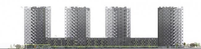 """Housing complex """"Russia. Five Capitals"""". Facades. Project, 2016 © A.Len"""