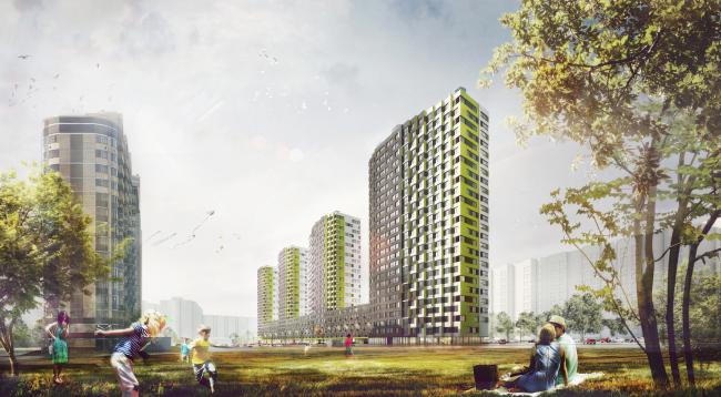 """Housing complex """"Russia. Five Capitals"""". Project, 2016 © A.Len"""
