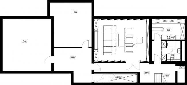 Частный жилой дом «Julia House». План 3 этажа. Реализация, 2014 © Архитектурная мастерская Романа Леонидова