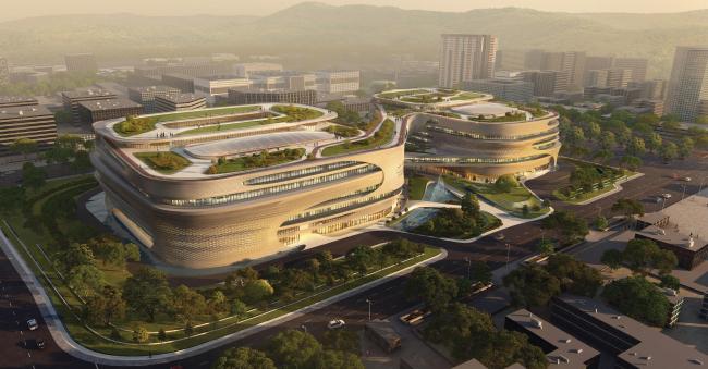 Комплекс Guangzhou Infinitus Plaza © Zaha Hadid Architects