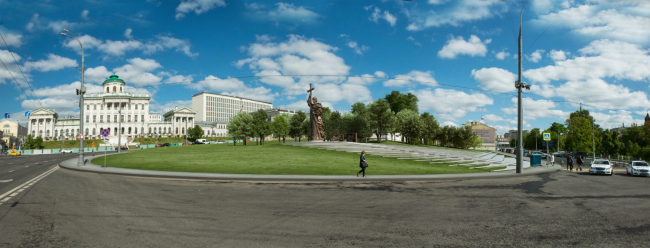 Благоустройство Боровицкой площади. Реализация, 2016 © Ai-architects