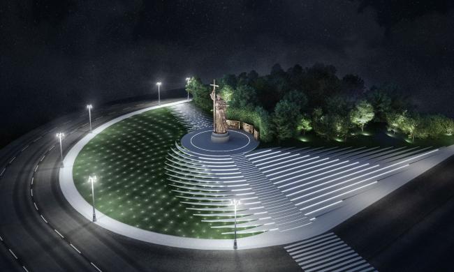Благоустройство Боровицкой площади. Проект, 2016 © Ai-architects