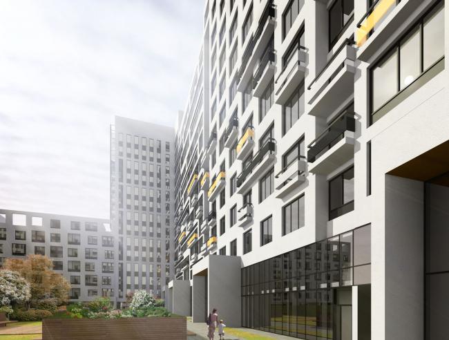 Многофункциональный жилой комплекс в Мукомольном проезде. Проект, 2016 © Остоженка