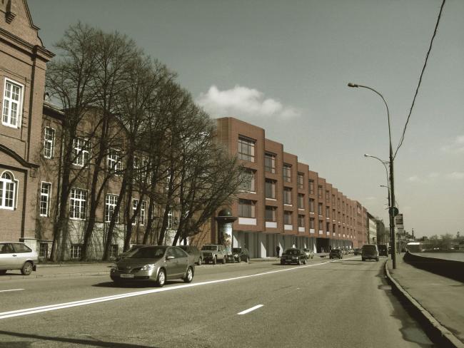 Жилой комплекс и офис на Пречистенской набережной. Фасады (вариант 4). Проект, 2009 © АБ Остоженка