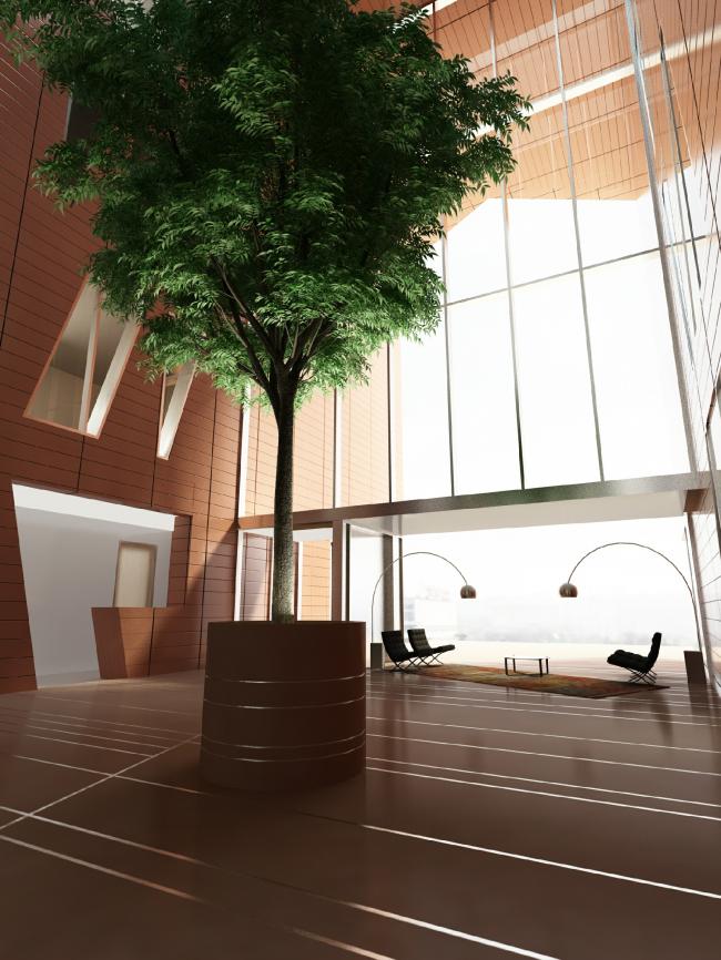 Жилой комплекс и офис на Пречистенской набережной. Интерьеры общественных зон корпуса 3. Проект, 2009 © АБ Остоженка