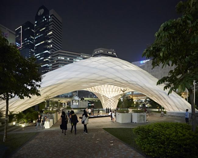 ZCB Bamboo Pavilion (Коулун-Бей, Гонконг).  Архитектурная школа Китайского университета Гонконга. Изображение предоставлено WAF