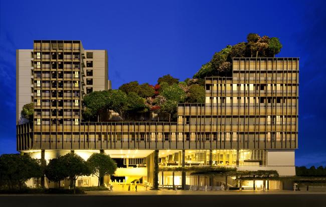 Центр Kampung Admiralty (Сингапур).  WOHA. Изображение предоставлено WAF