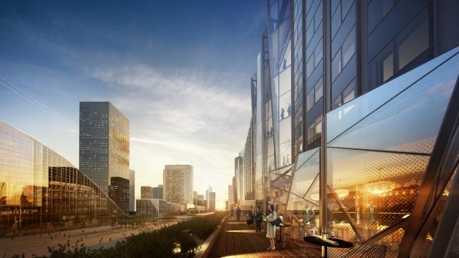 Мастерплан района Hudson Yards (Нью-Йорк, США).  Kohn Pedersen Fox. Изображение предоставлено WAF