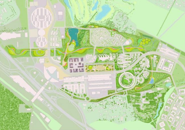 Концепция центрального квартала иннограда Сколково © Цимайло, Ляшенко & Партнеры