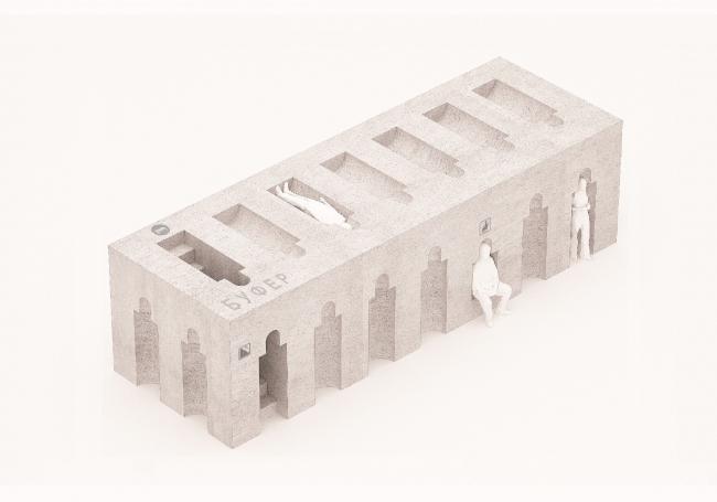 Проект остановочного комплекса «Буфер». Изображение предоставлено журналом «Проект Балтия»