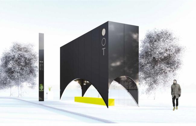 Проект остановочного комплекса «Между звезд». Изображение предоставлено журналом «Проект Балтия»