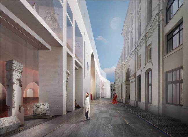 Музейно-выставочный комплекс под размещение экспозиции Московского Кремля на Красной площади. Проектная организация: «Проект Меганом» и Nowadays