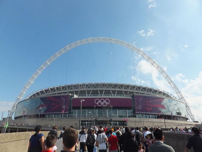Стадион «Уэмбли». Фото: Richard Johnson via Wikimedia Commons. Лицензия CC-BY-SA-3.0