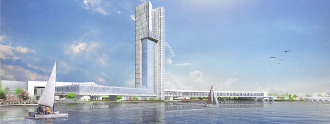 Hotel complex and media center in Chelyabinsk. Project, 2016 © GrandProjectCity