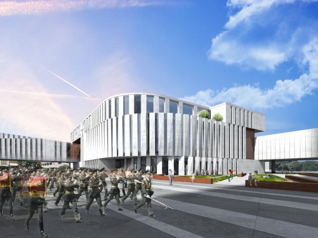Гостиничный комплекс и медиа-центр в Челябинске. Проект, 2016 © ГрандПроектСити