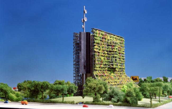 Штаб-квартира компании ENI, конкурсный проект, 2 место © Emilio Ambasz