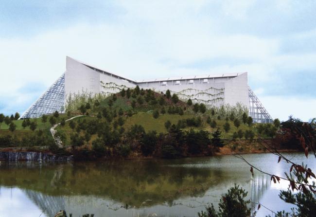 Культурный и атлетический центр Mycal, 1988 © Emilio Ambasz