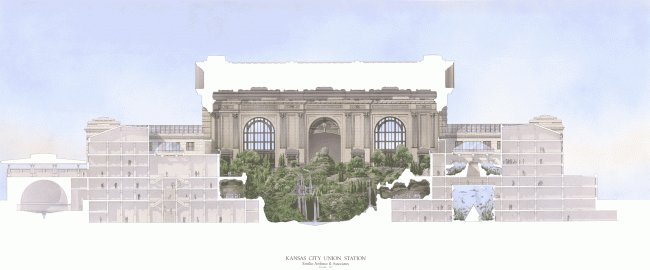 Вокзал Юнион-стейшн в Канзас-Сити – реконструкция © Emilio Ambasz