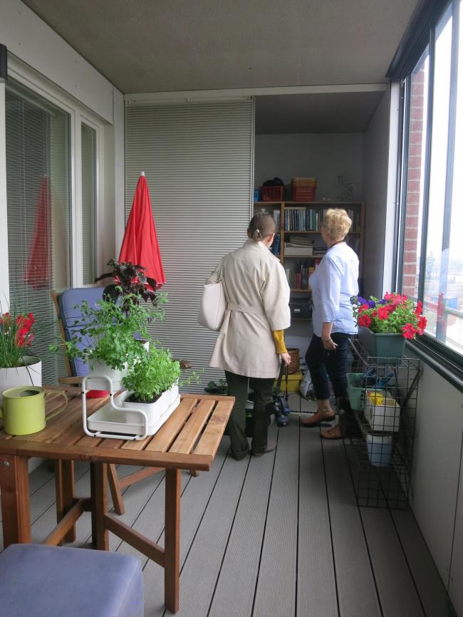 Жилой комплекс «Котисатама». Кладовка на балконе © Tarja Nurmi