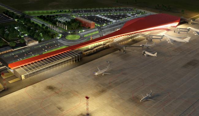 Проект реконструкции аэропорта Челябинска для конкурса Archchel 2020 © Новая авиация (Санкт-Петербург)