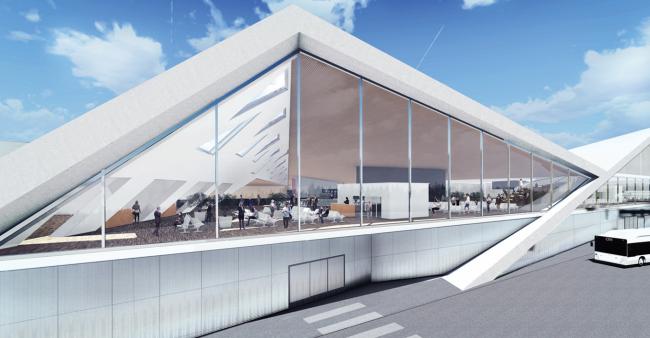 Проект реконструкции аэропорта Челябинска для конкурса Archchel 2020 © Даниэль Дендра, AnotherArchitect (Берлин)