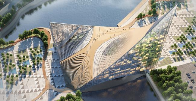 Проект конгресс-центра в Челябинске для конкурса Archchel 2020 © Проектная мастерская «Арена» (Москва)