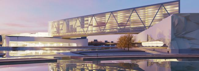 Проект конгресс-центра в Челябинске для конкурса Archchel 2020 © Инрос Лакнер Блр (Минск)