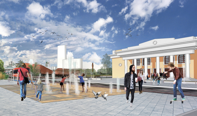 Проект благоустройства набережной реки Миасс для конкурса Archchel 2020 © Архитектурная группа «Ин.форм» (Екатеринбург)
