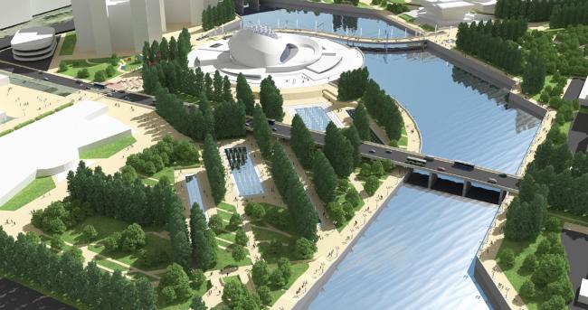 Проект благоустройства набережной реки Миасс для конкурса Archchel 2020 © Михаил Чаплыгин (Новосибирск)