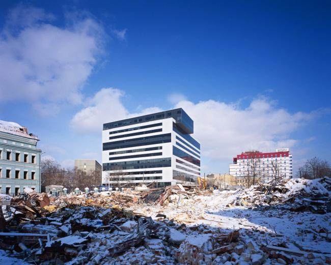 """""""Capital Plaza"""" Business Center. Photo by courtesy of """"Ostozhenka"""" Bureau"""
