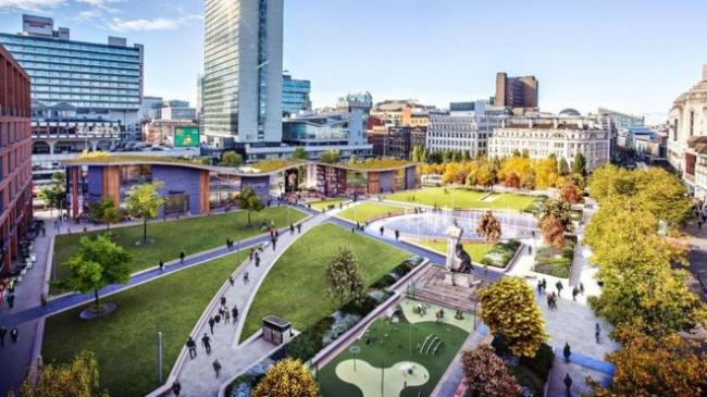 Проект студии Urban Edge Architecture для Сада Пикадилли, Манчестер. Изображение: Manchester City Council