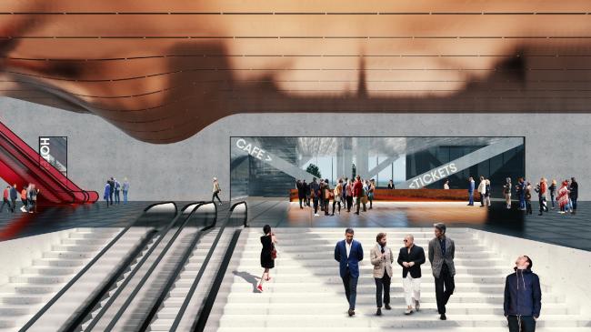Проект конгресс-центра в Челябинске для конкурса Archchel 2020 © Андрей Уколов (Санкт-Петербург)