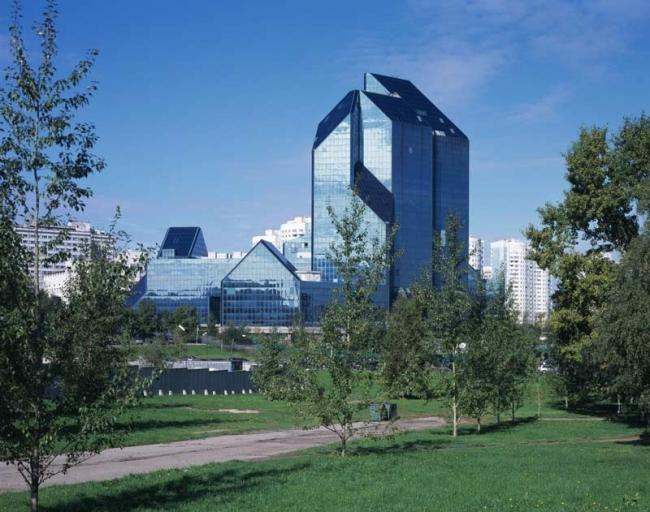 Бизнес-центр «Зенит». Реализация, 1995 © Моспроект-1