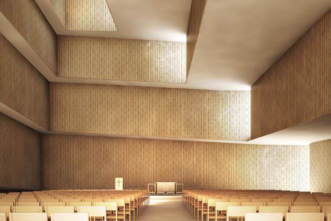 Церковь в районе Сюдхавн © JAJA Arkitekter