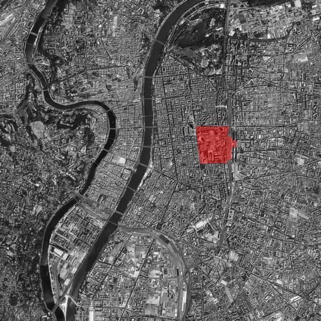 Большой Лион и его «сити» Пар-Дьё. Источник: Google Earth