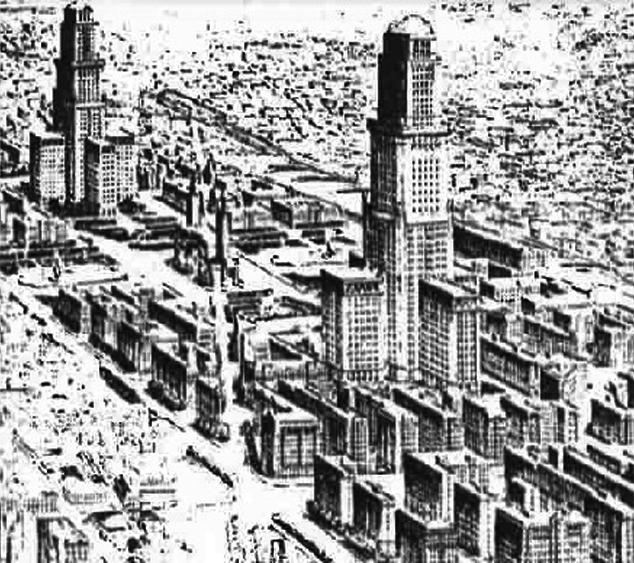 Новый деловой центр Лиона в районе Пар-Дьё. Конкурсный проект, арх. Франсис Шолла. 1926 г.