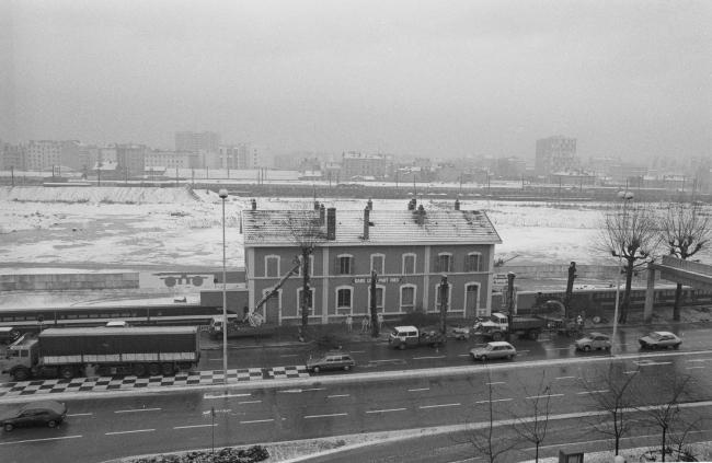 Железнодорожная станция Пар-Дьё, на месте которой в 1980-е годы был выстроен новый вокзал. Источник: Bibliothèque municipale de Lyon