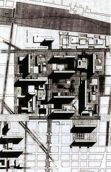 Пар-Дьё. Схема планировки. 1958-61 гг.