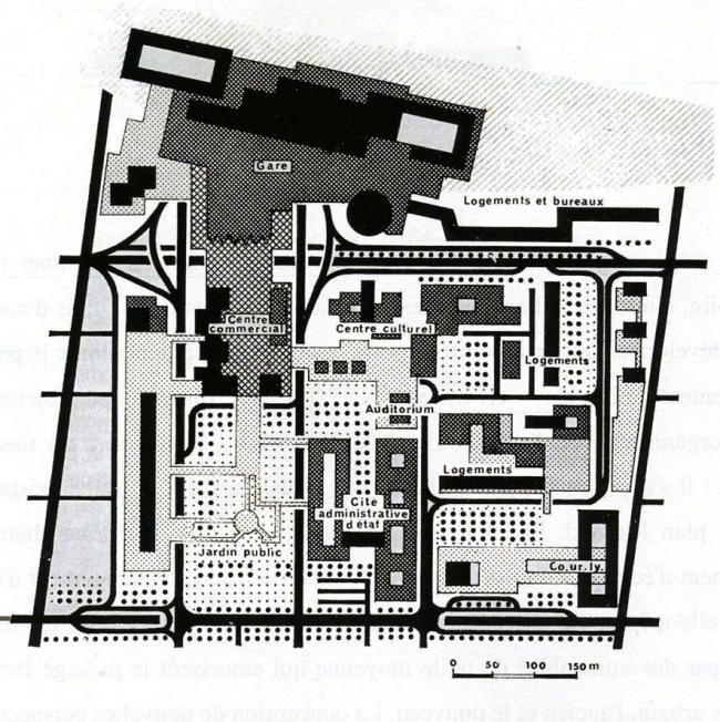 Комплекс Пар-Дьё. Схема планировки. 1967 г.