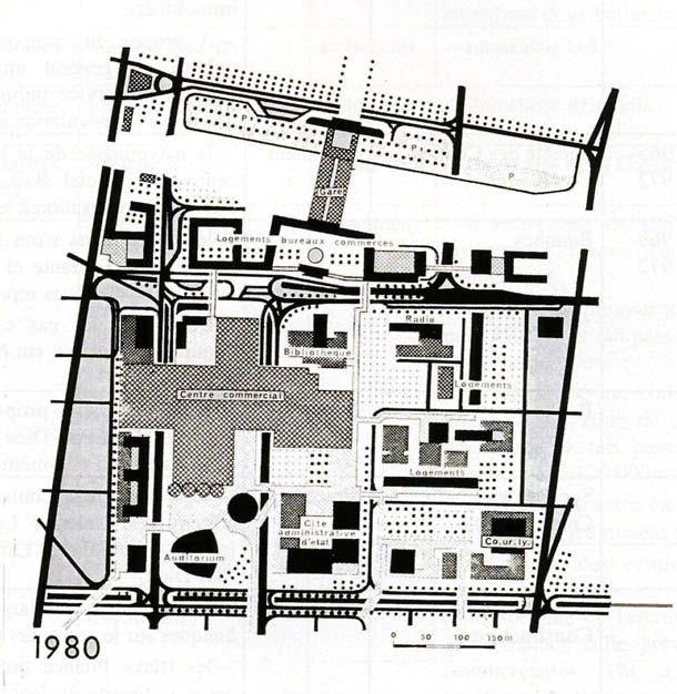 Комплекс Пар-Дьё. Схема планировки. 1975 г.